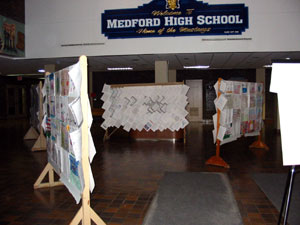 Posters on Display at Medford High School