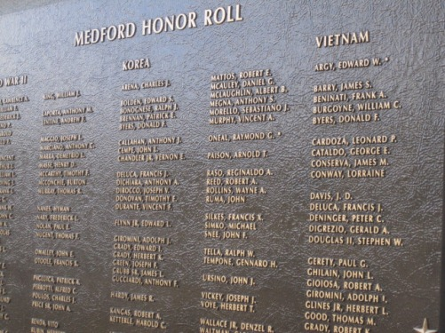 Honor Roll Park plaque