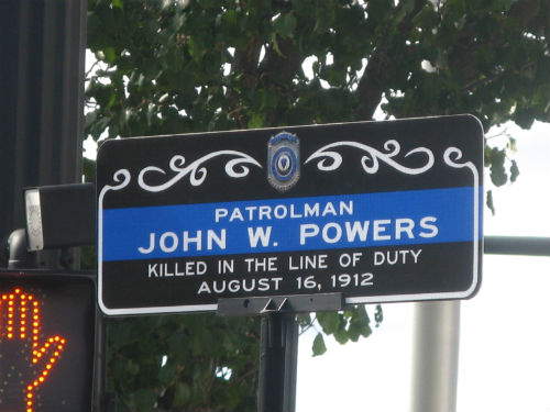 Patrolman Powers sign