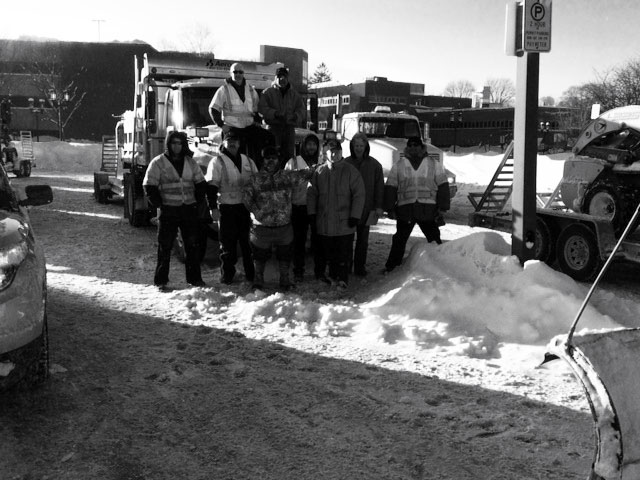 snow removal in Medford on February 15, 2015
