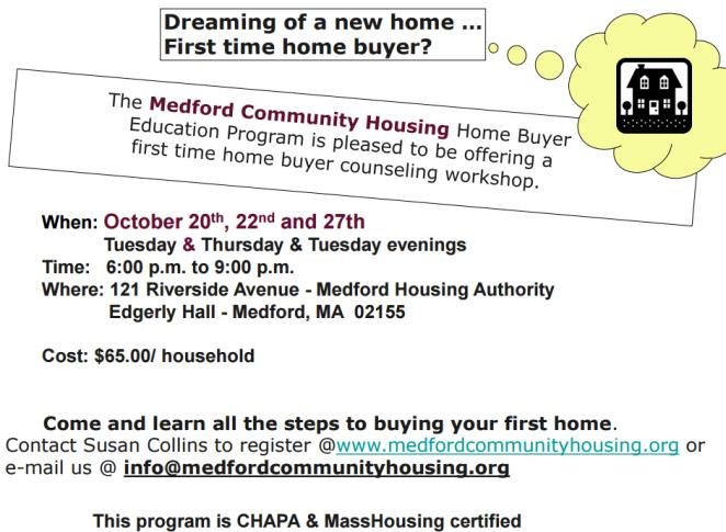 October 2015 First-time home-buyers workshop