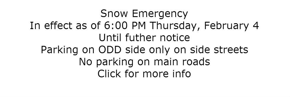 snow emergency 2.4.16