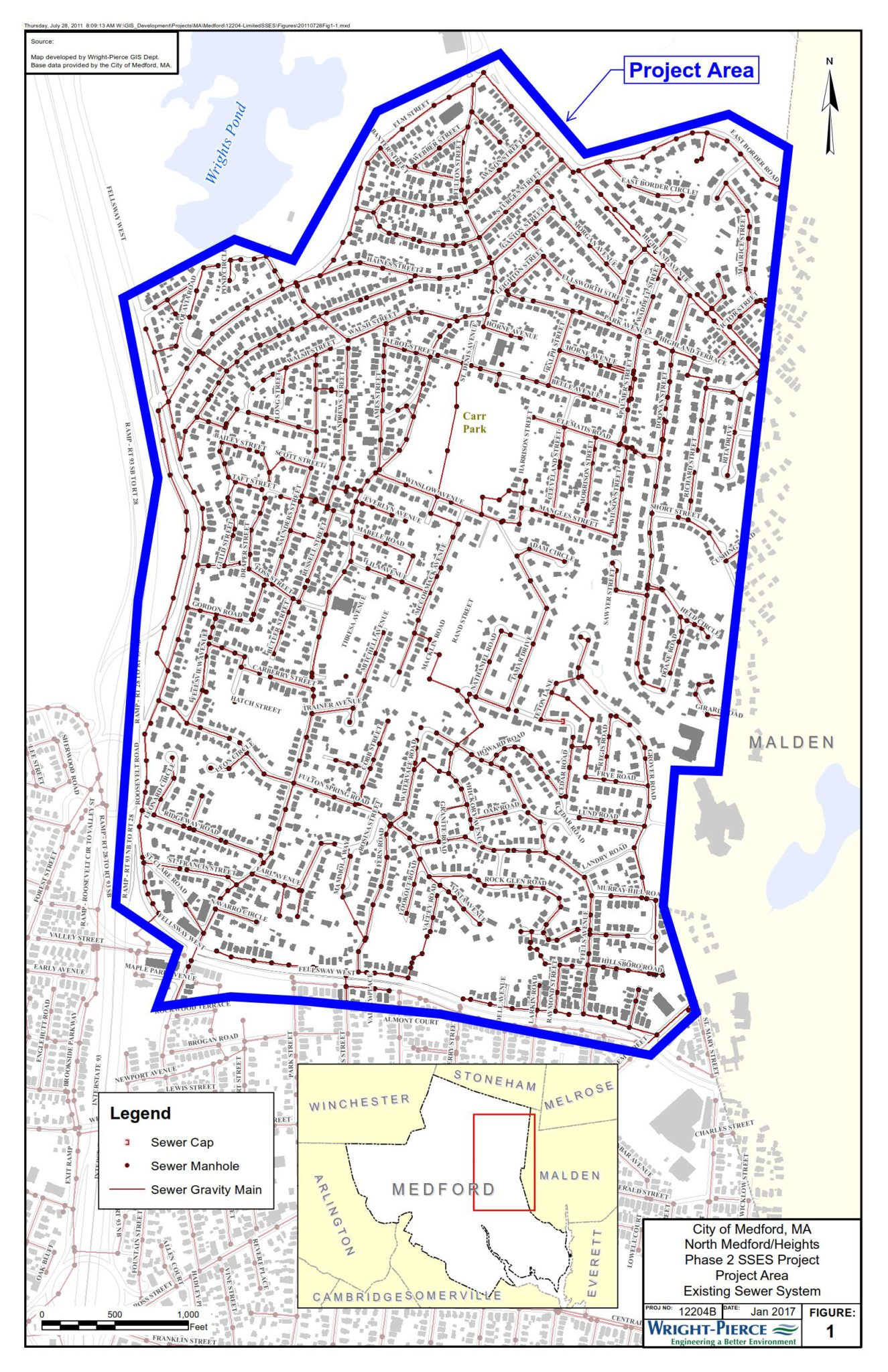 City of Medford Sanitary Sewer Manhole Inspections in January