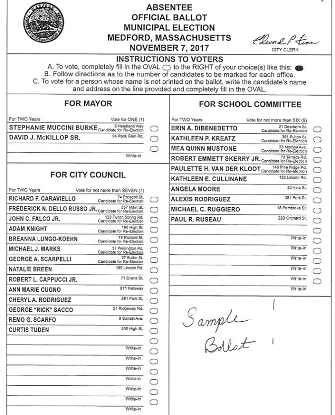 sample ballot 2017 election